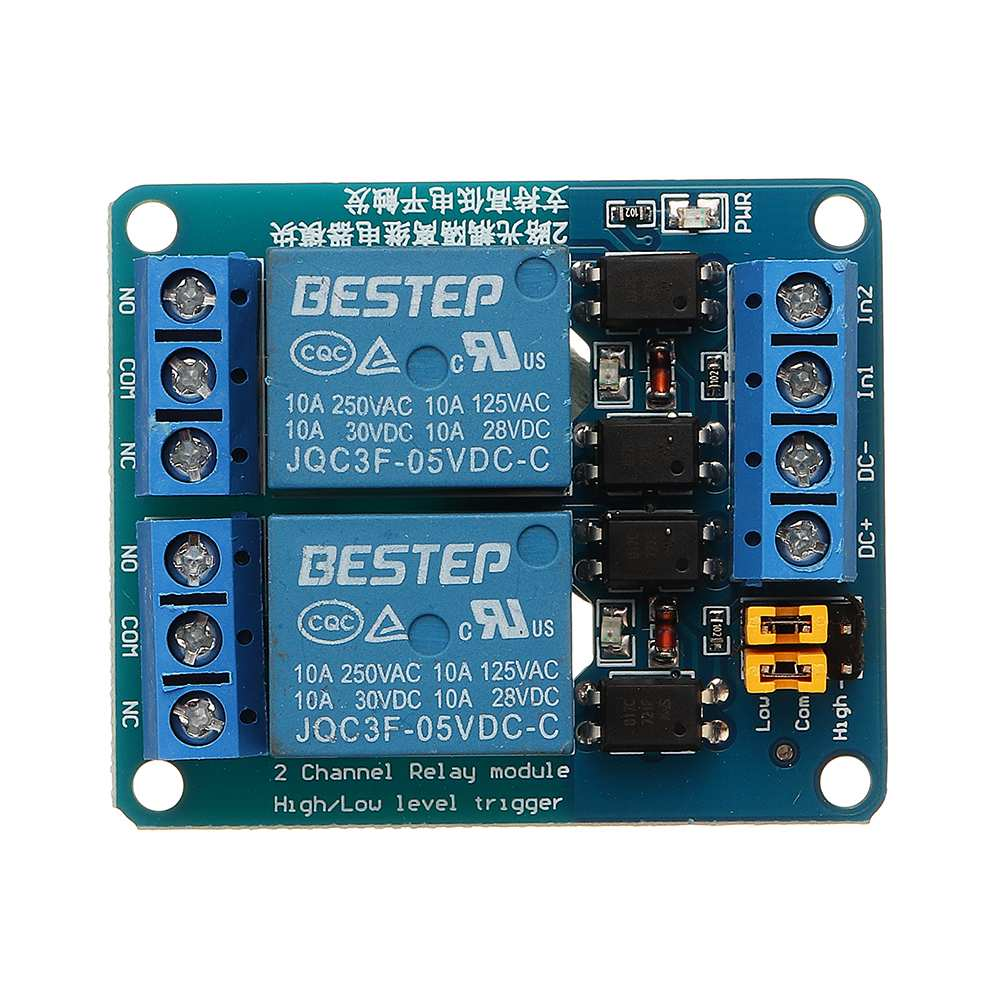 5V 2 Channel Relay Module Low Level Trigger With Optocoupler Relay Output 2 Way Relay Module For Arduino