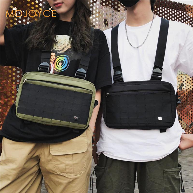Men Chest Rig Hip Hop Streetwear Functional Chest Bag Cross Shoulder Bag Women Men Outdoor Climbing Harness Chest Rig Bags