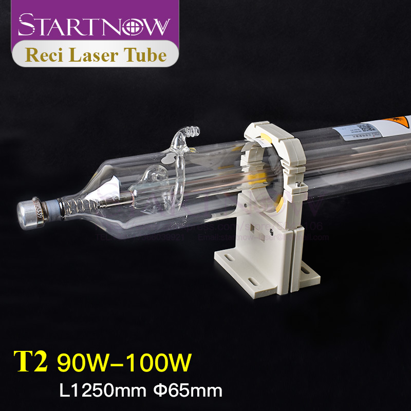 Startnow T2 Reci 90W Laser Tube CO2 80W 100W D65 Wooden Box Packing For CO2 Laser Cutting Machine Lamp Engraving Equipment Pipe