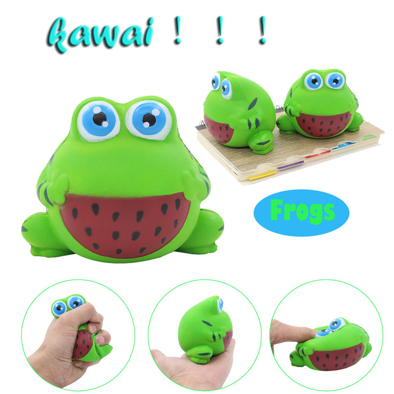 Simulated Frogs Compress Toy Scented Charm Slow Rising Collection Stress Reliever Kids Fun Toys Squishy Compress #30D09