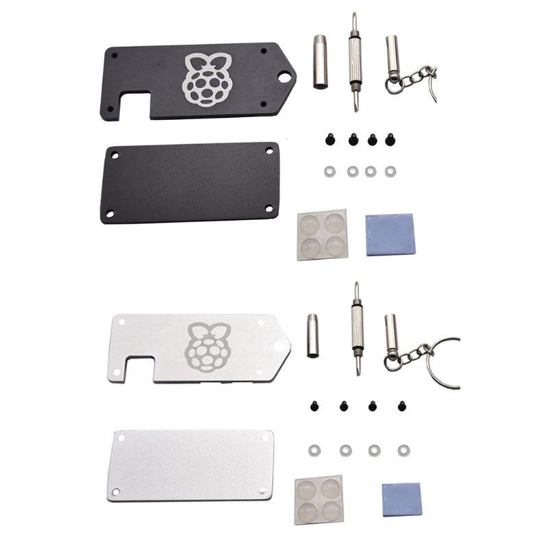 1Set Ultra-thin ZV2 CNC Aluminum Alloy Protective Case Metal Enclosure Shell for Raspberry Pi Zero W Accessories