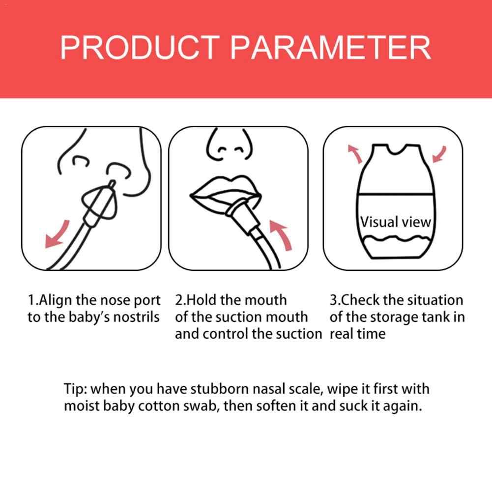 Nariz de limpeza do bebê cateter lavagem nasal do bebê cuidados com o nariz do bebê snot inalador prevenção do retrofluxo do bebê nasal aspirador