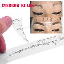 Sticker Eyebrow-Ruler Tattoo Microblading Template-Measure-Tool Disposable Semi-Permanent