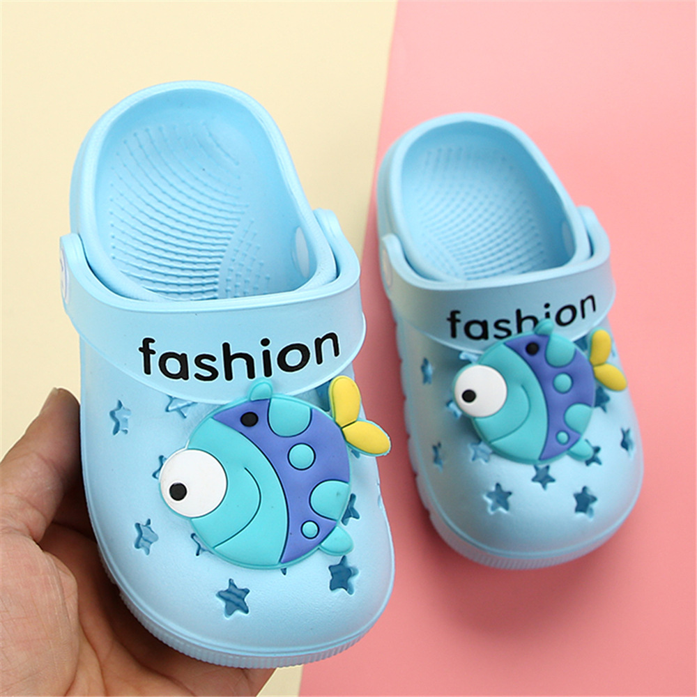 Blue Garden Cave Shoes Infant Sandals Baby Slippers Summer Boy Slipper Baby Beach Shoes Cute Cartoon Toddler Kids Slippers Girls