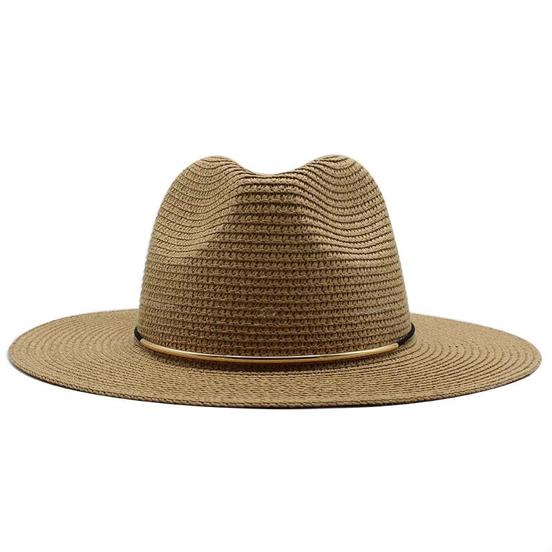 Summer Hat Women Panama Straw Hat Fedora Beach Vacation Wide Brim Visor Casual Summer Sun Hats For Men Sombrero 2020