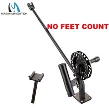 Maximumcatch equipo de pesca Manual con contador de pies, aluminio, con pasador de arrastre ajustable