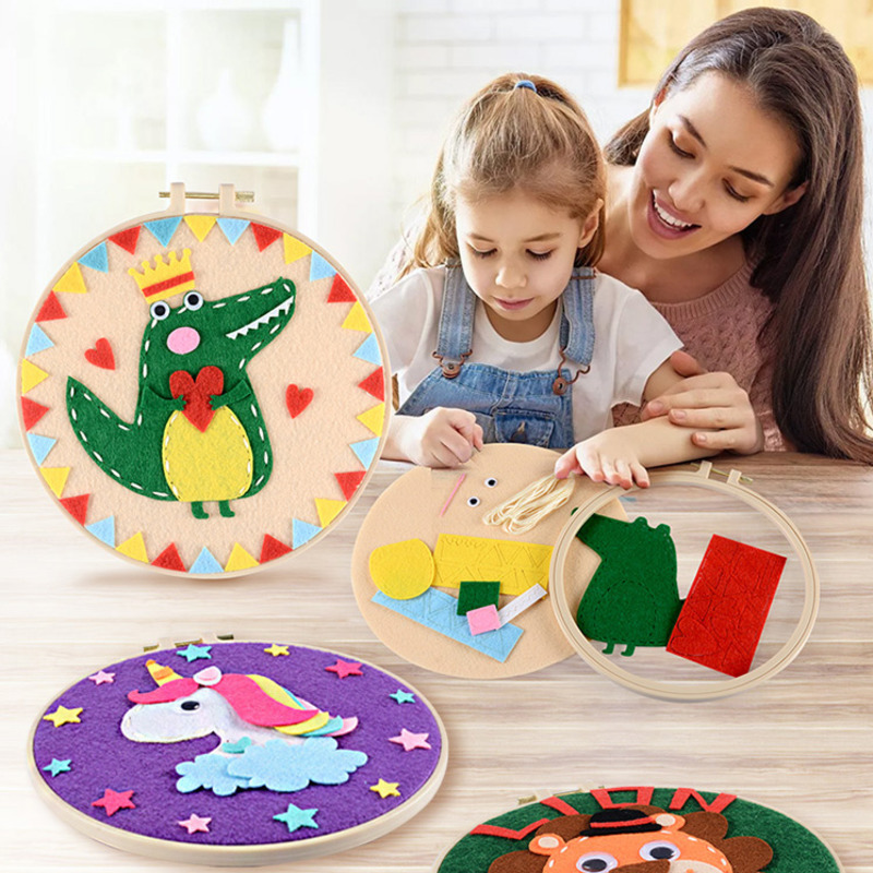 DIY Creative Crafts Toys For Children Non Woven Felt Paper Girl Handicraft Kindergarten Material Funny Arts And Craft Kids Gift