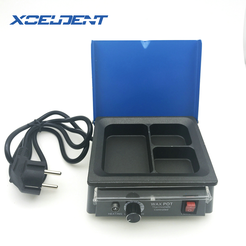 1Set Dental Laboratory Wax Melter Melting Dipping Heater New 3-Well Pot For Dental Lab Use Wax Heater Pot 110V/220V US/EU Plug