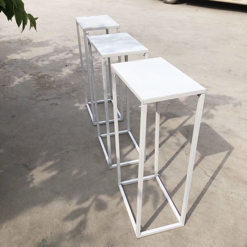 Rack Background Geometry Table Home Stand White Rectangular Flowers Lead Flower Decoration Stand Wedding Decor Party Road For