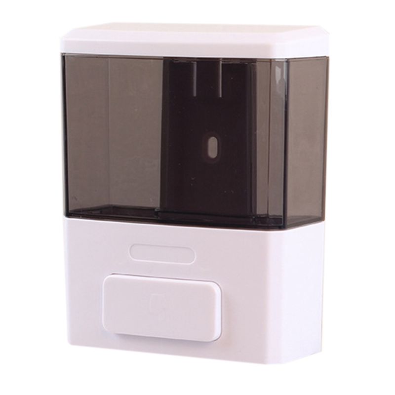 Manual 350Ml Capacity Wall-Mounted Soap Dispenser Plastic Single Head Soap Dispenser Hotel Bathroom Supplies