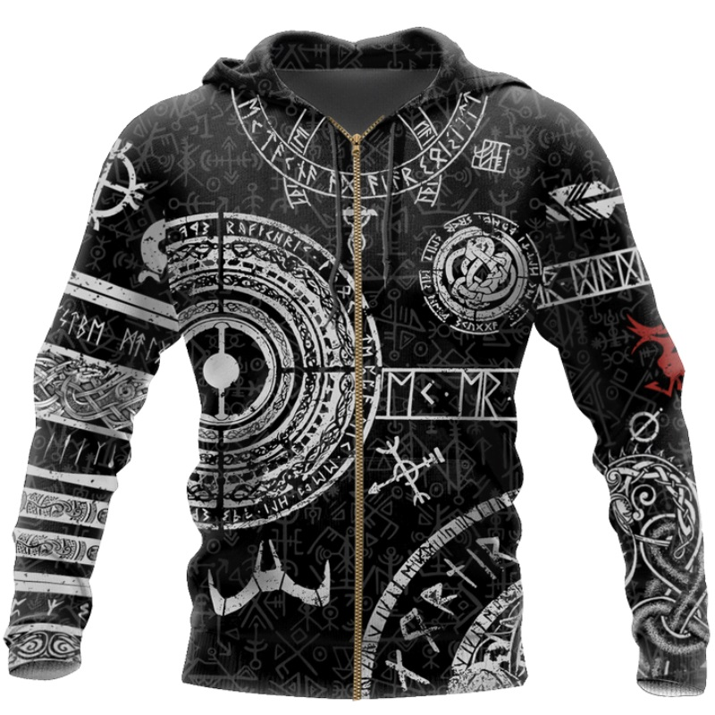 Viking Odin Tattoo 3D Printed Men hoodies Harajuku Fashion Hooded Sweatshirt Autumn Unisex Street hoodie sudadera hombre WS-445 6