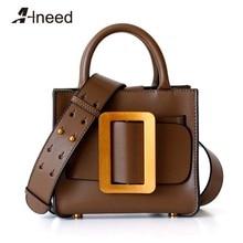 ALNEED Luxury Handbags Women Bags Designer Genuine Leather Mini Shoulder Bags 2020 Purse Clutch for Girls Crossbody Bag