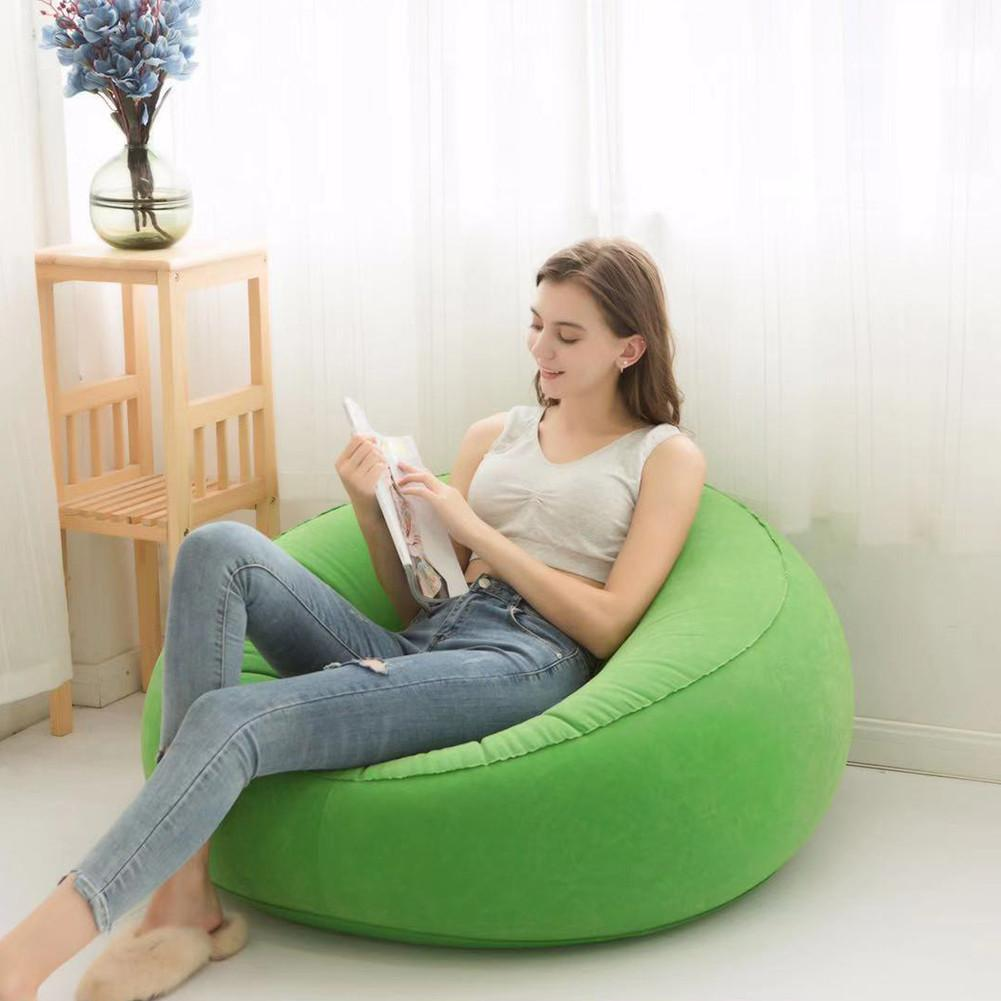 Large Bean Bag Lazy Sofas Made Of Flocking Material for Indoor Outdoor Tatami Seat 1