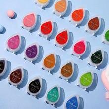 24 cores água-gota glitter orvalho pigmento tinta almofada para diy scrapbooking álbum de fotos decoração