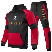 2021 cotton men's sweatshirt, Hoodie and trousers, sportswear, casual shirt, running, autumn and winter sportswear