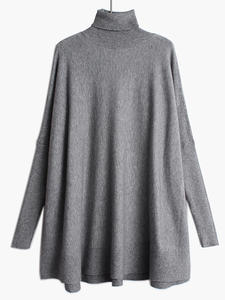 Oversized Sweater Turtleneck Knitting Long-Sleeve EAM New-Fashion Spring Fit Loose 19a-A43