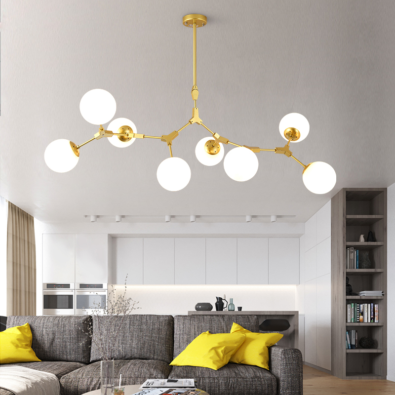 Modern LED Chandeliers Lights Living Room Suspended Lamp Loft Luminaires Nordic Dining Room Fixtures Iron Hanging Lights