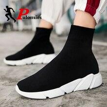 PULOMIES Summer Shoes Men Women Casual Shoes High-cut