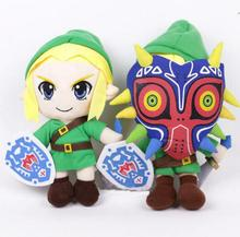 Legend of Zelda Breath of The Wild Link Cosplay Plush Toy Majoras Mask Doll Soft Stuffed Gift for Children