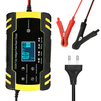 Car Battery Charger 12 24V 8A Touch Screen Pulse Repair LCD Battery Charger for Car Motorcycle Smart automatic charging