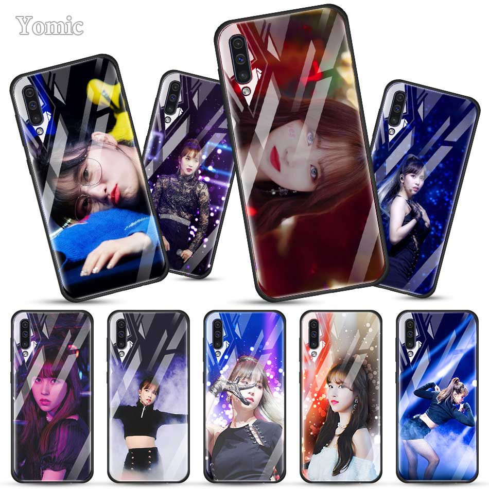 Twice Mina Momo Kpop Fitted <font><b>Case</b></font> for <font><b>Samsung</b></font> Galaxy A50 <font><b>A70</b></font> A51 A71 A10 A20 A30 S J6 J4 Plus A40 M30s <font><b>Tempered</b></font> <font><b>Glass</b></font> Phone Cover image
