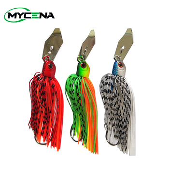 JonStar 2pcs/lot 13g/16g/19g Fishing chatter bait spinner Spin fishing lure Buzzbait chatterbait  for bass pike walleye fishing