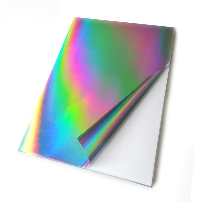10 Sheets/lot  A4 DIY Paper Self-adhesive Holographic Sticker Paper Rainbow Reflection Film For Scrapbooking Craft стикеры