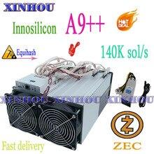Innosilicon – vieux mineur Asic Equihash A9 ++ ZMaster 140K, avec PSU Zcash BTG, mieux que A9 antminer Z11 Z11j Z11e Z9 z9 mini