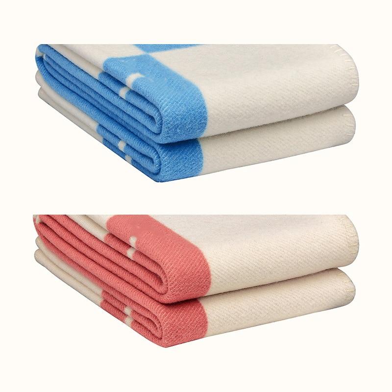 Carta h xale lã ar condicionado cobertor