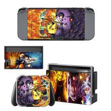 Pegatina de piel de Naruto para Nintendo Switch, consola y controlador para NS, funda protectora, pegatina de piel con interruptor Joy con