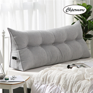 Image 2 - Chpermore High grade Luxury Simple bed cushion double sofa Tatami Bed soft bag Removable Bed pillow For Sleeping