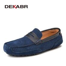 Мужские повседневные туфли DEKABR, коричневые воздухопроницаемые слипоны, дизайнерские Мокасины, весна лето 2019