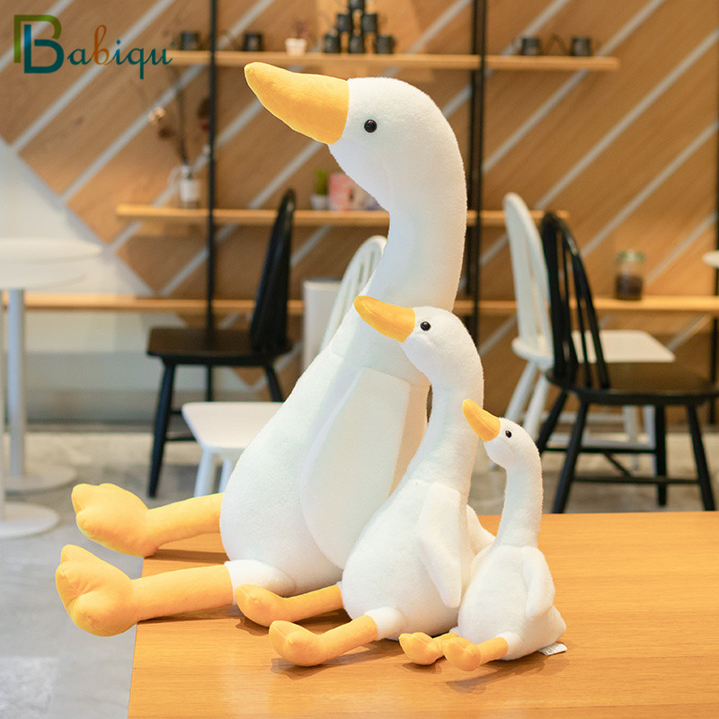 32-100cm Big Plush White Duck Toy Giant SIze Pink Duck Sky Long Neck Goose Lifelike Animal Doll Toys For Kids Birthday Gift