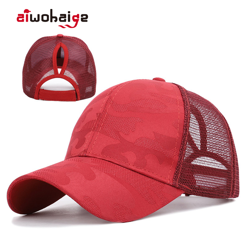 Trendy Women's Ponytail Baseball Cap Women Snapback Summer Mesh Hat Female Fashion HIp Hop Hats Casual Adjustable Outdoor Bone