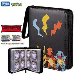 200-400Pcs Pokemon Cards Holder Album EVA game card bag Card Holder Game Cards Book Top Loaded List Toys