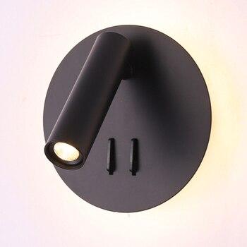 ZEROUNO LED Wall Lights Modern Bedroom Room Reading Lamp 220V Round Headboard Wall Lamp Corridor Decoration Arts Light