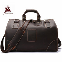 High grade genuine leather Available for 17 Laptop travel hand bags New Korean Fashion Multi function men Bags
