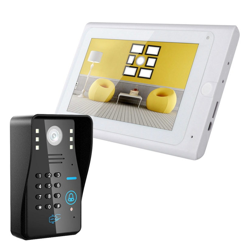 ABKT-Mountainone 7 Inch Rainproof Wifi Password Video Phone Doorbell With Infrared Camera Support Remote App Unlock Recording Sn