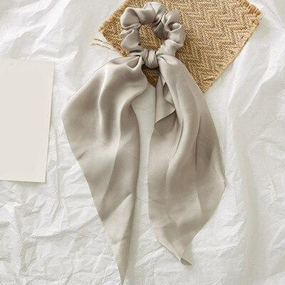 Модный летний шарф «конский хвост», эластичная лента для волос для женщин, бантики для волос, резинки для волос, резинки для волос с цветочным принтом, ленты для волос - Цвет: 0008