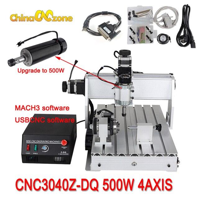 CNC 3040 Z-DQ 3 assi CNC Router Incisore Vite A Sfere di Taglio Fresatura Foratura Mini Macchina Per Incidere di CNC 3040 500W Produttore