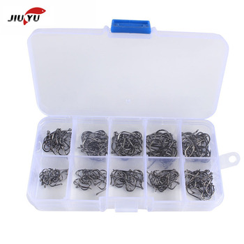 100/200pcs  High Carbon Steel Fishing Hooks Set Single Circle Barbed Fishhook Fly Fishing Carp Hooks Sea Tackle Accessories 100pcs fishing hooks set carbon steel single circle fishhook fly fishing jip barbed carp hooks sea tackle accessories