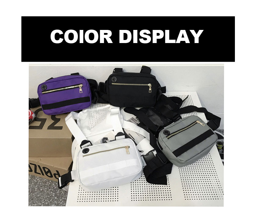 H35b12c29f62b46ae9c584282eeadbd673 - Vest-Style Large Space Chest Bag Retro Square Chest Bag Streetwear Shoulder Functional Backpack Tactics Funny Pack G108
