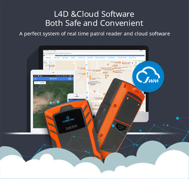 4G GPRS Real Time Web Software Voice Call Guard Patrol Reader With Cloud Softare WM-5000L4D
