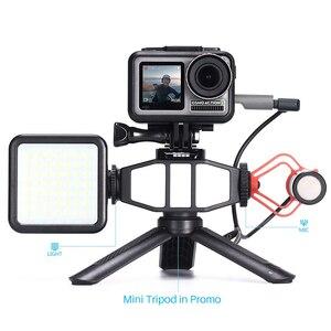 Image 5 - Painel de luz de led ultra brilhante, com sapato frio para gopro hero 8 7 6 5 nikon sony dslr dji conjunto de acessórios da câmera de ação osmo