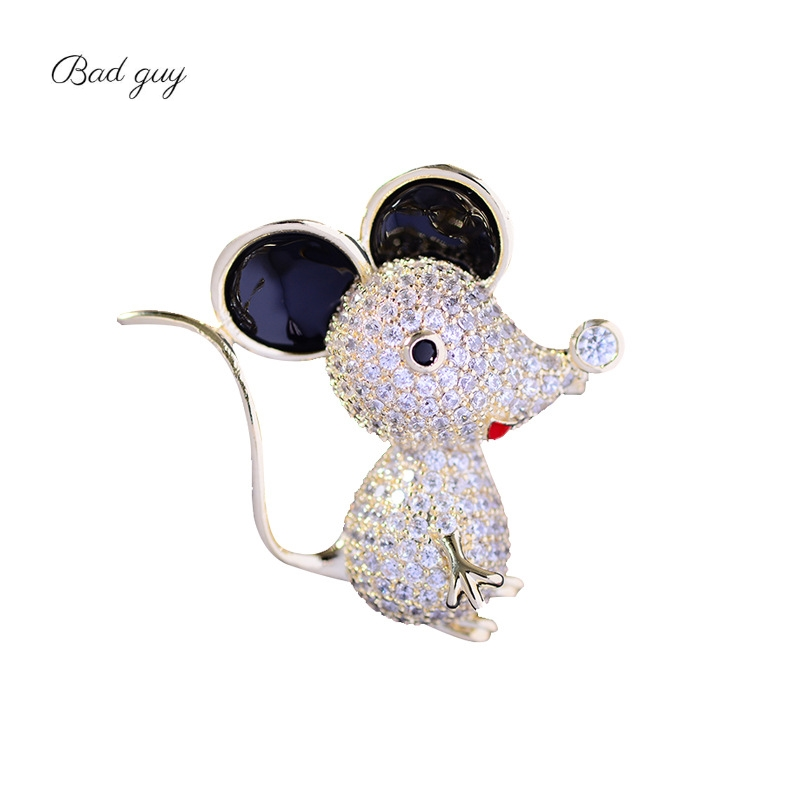 Bad Guy Zircon Brooches for Women's Mouse Brooches Pins Fashion Pins Accessories for Clothes Decoration Brooch Medical Cute Pins-0