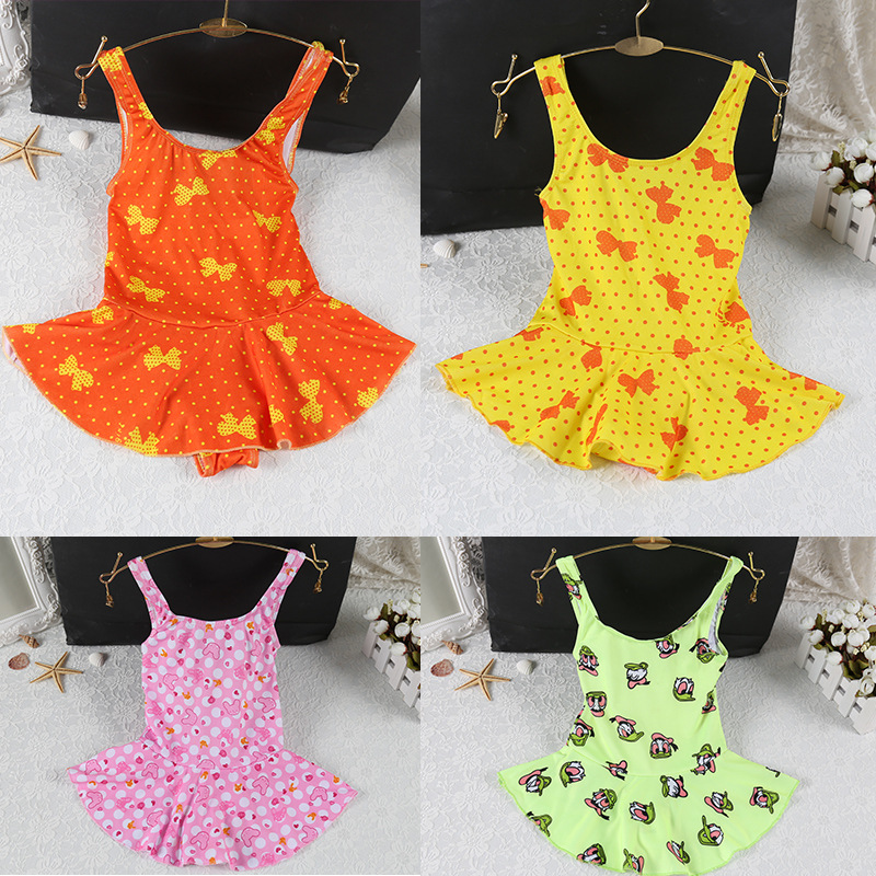 Middle And Large Girls CHILDREN'S Swimsuit New Style Child One-piece Baby Girls Princess Comfortable Dacron Skirt Swimsuit