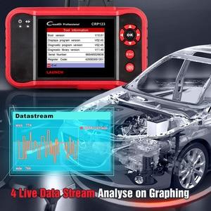 Image 3 - LAUNCH CRP123 obd2 OBDII code reader scanner Engine ABS Airbag Transmission car diagnostic tool Multilingual free update online