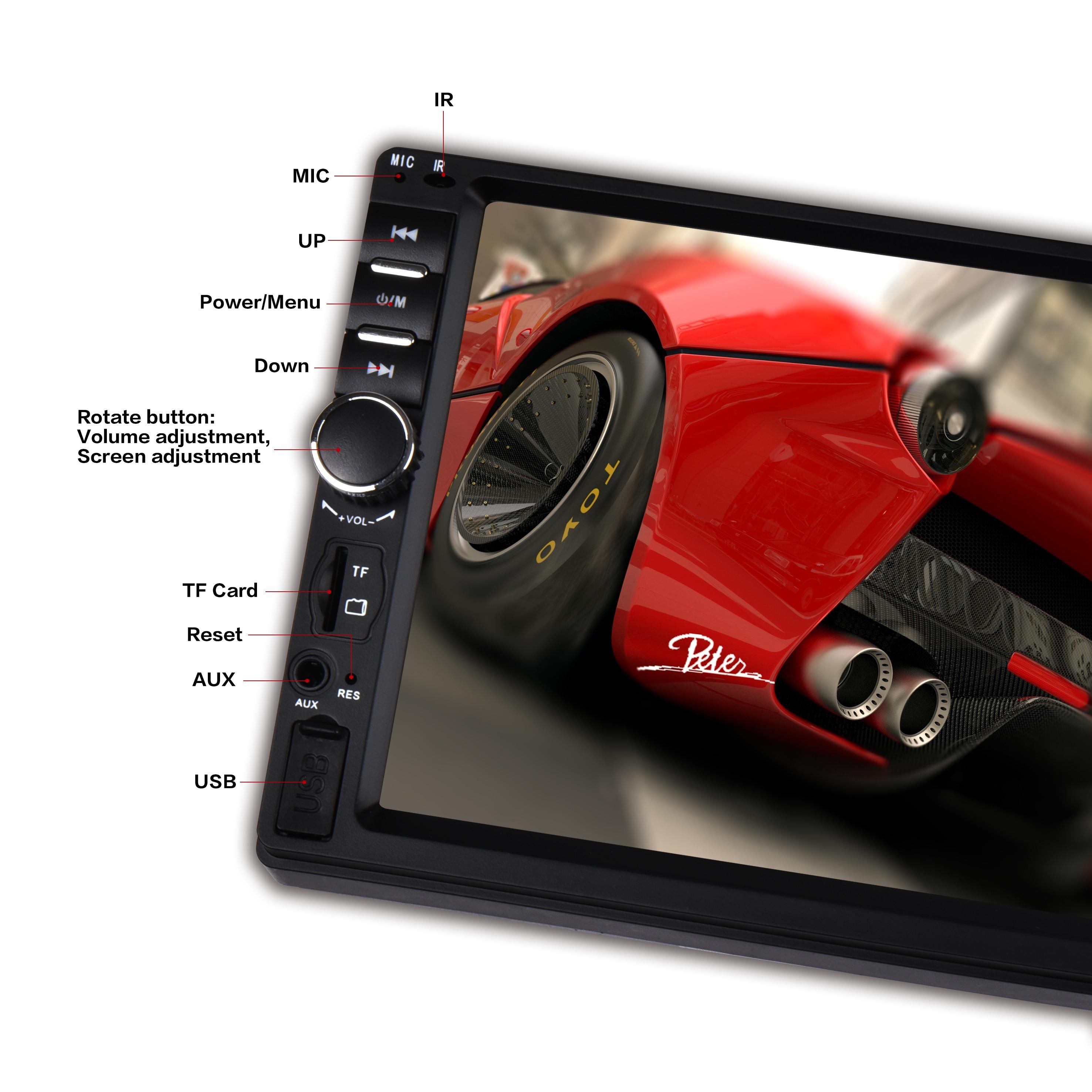 LAESD 7018b 2Din сенсорный экран авто стерео аудио система 2 Din 2дин авто магнитола MP4 MP5 ВИДЕО магнитол мультимедийный плеер