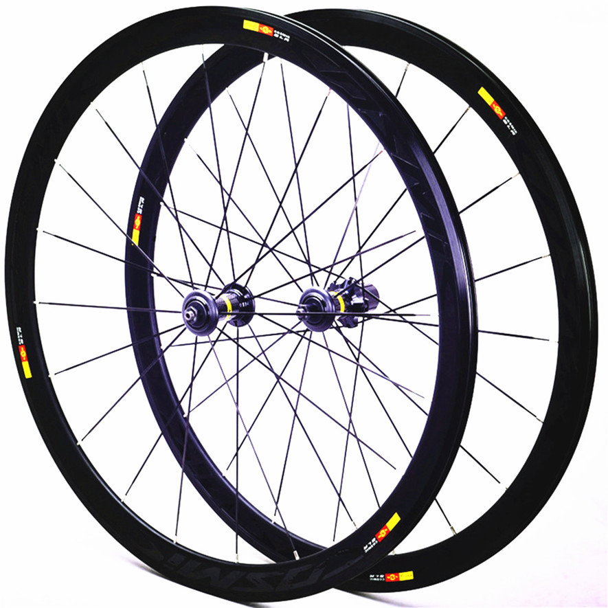 Cosmic Road Bicycle <font><b>20H</b></font> <font><b>Rims</b></font> Wheels <font><b>700c</b></font> 40mm Aluminum Alloy V Brake Disc Brake Bike wheel set image