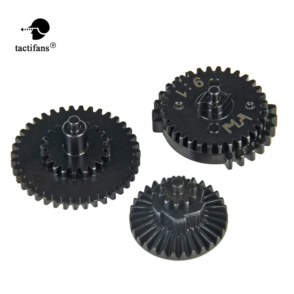 MA 9:1 Ultra High Speed Double Sector Spur Bevel Gears DSG Pappet Plate Set For AEG Gearboxes Toy Gun Accessories CNC Anodizing